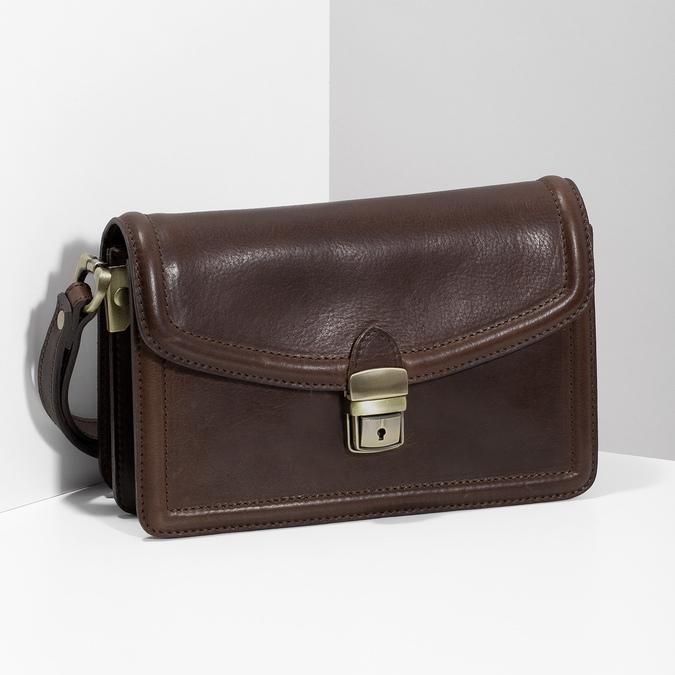 Kožená pánská taška do ruky bata, hnědá, 964-4315 - 17