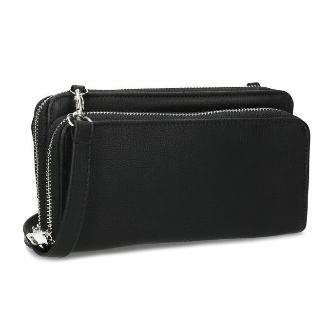Dámská prostorná černá peněženka bata, černá, 941-6616 - 13