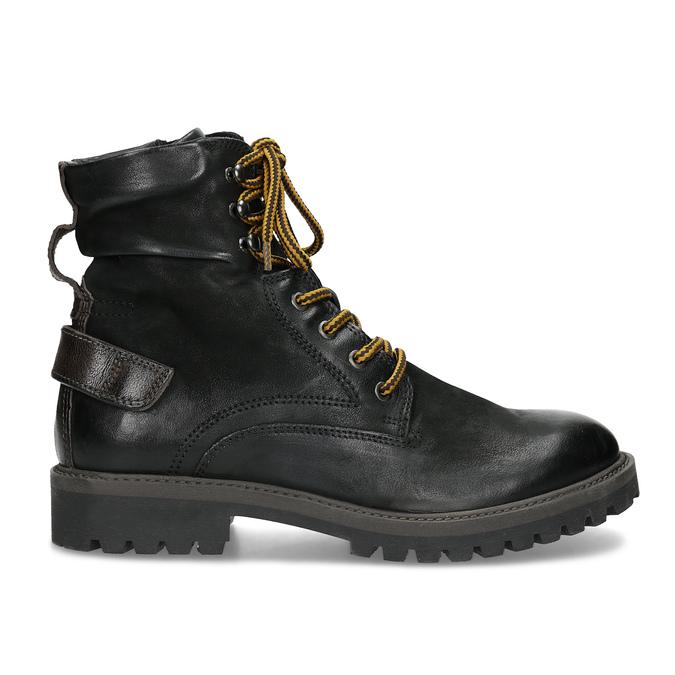 Zimní kožená pánská kotníčková obuv bata, černá, 896-6736 - 19