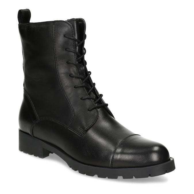 Černé dámské kožené kozačky bata, černá, 594-6718 - 13