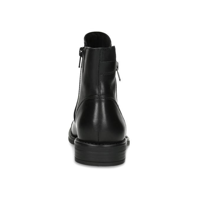 Kožená dámská kotníčková obuv bata, černá, 594-6711 - 15