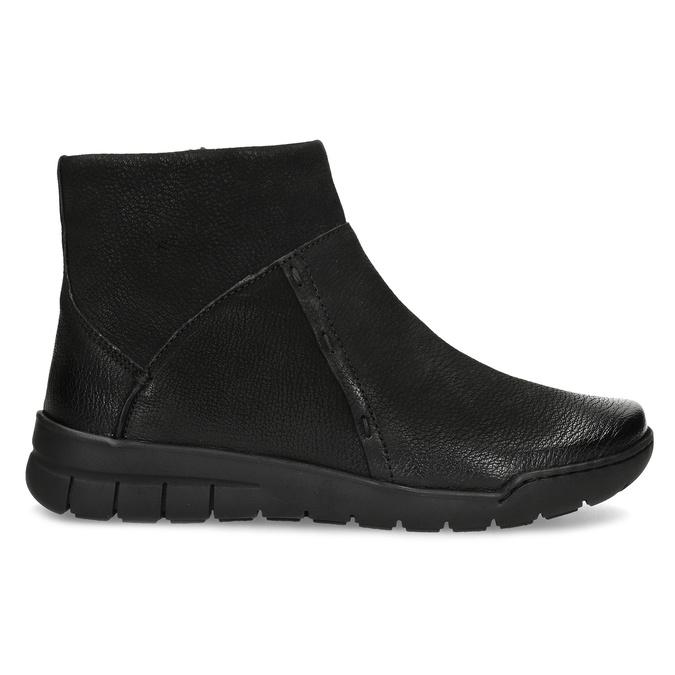 Kožená dámská kotníčková obuv bata, černá, 596-6706 - 19