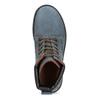Modrá kožená dámská kotníčková obuv weinbrenner, modrá, 596-9728 - 17