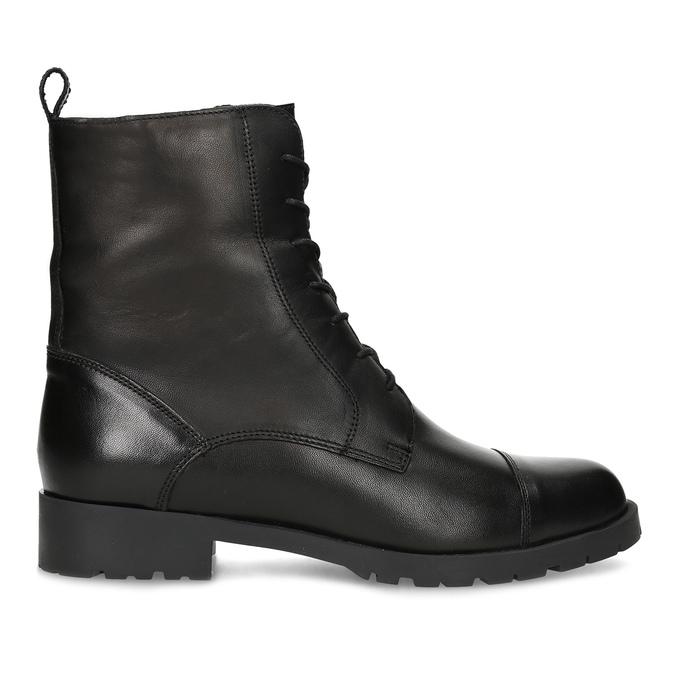 Černé dámské kožené kozačky bata, černá, 594-6718 - 19