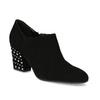 Dámská kožená kotníčková obuv se cvoky bata, černá, 723-6661 - 13