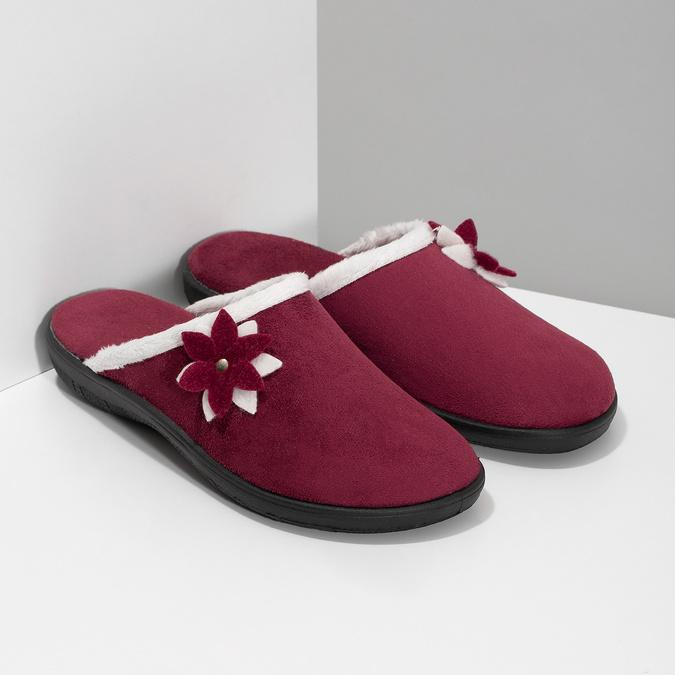 Dámské zateplené nazouváky červené bata, červená, 579-5632 - 26