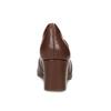 Hnědé kožené lodičky s kovovou přezkou rockport, hnědá, 716-3085 - 15