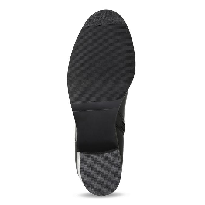 Kožené černé kozačky na stabilním podpatku bata, černá, 694-6668 - 18