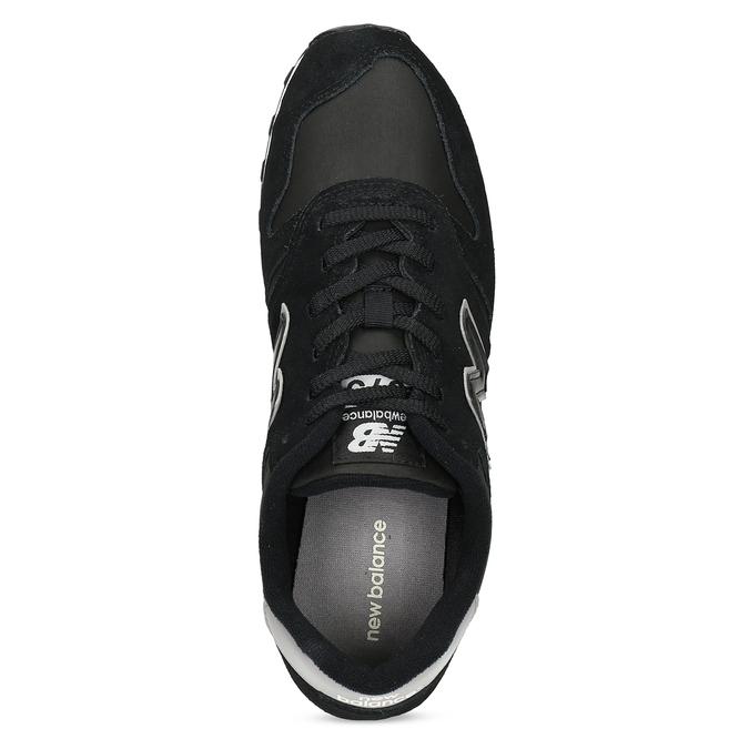 Černé pánské tenisky z broušené kůže new-balance, černá, 803-6137 - 17