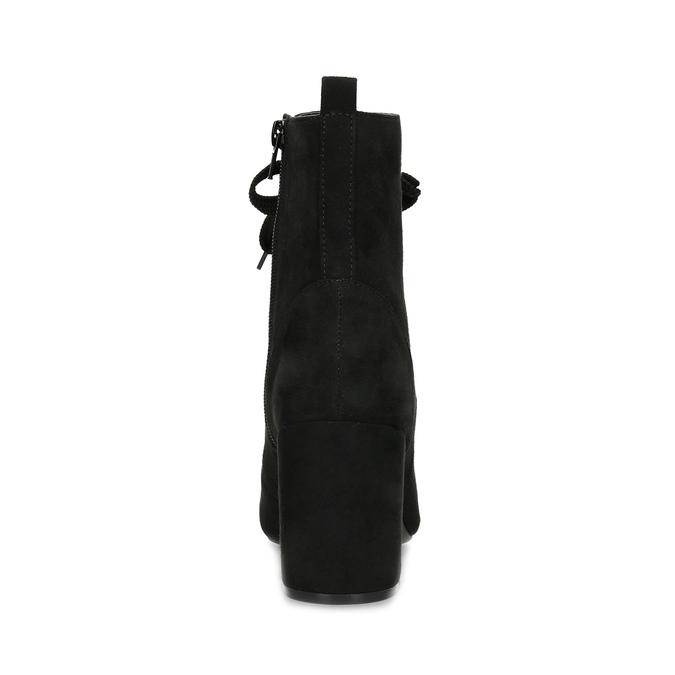 Dámské černé kozačky se šněrováním bata-red-label, černá, 799-6633 - 15