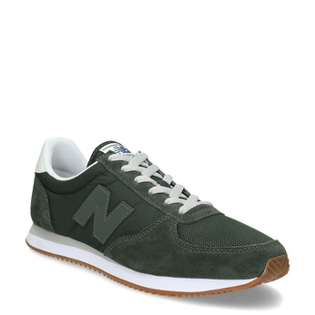 Pánské zelené tenisky z broušené kůže new-balance, zelená, 803-7137 - 13