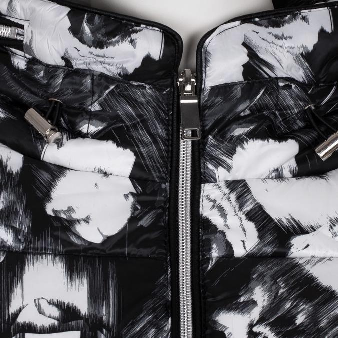 Černo-bílá dámská prošívaná bunda bata, černá, 979-6311 - 16