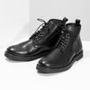 Černá kožená kotníčková pánská obuv bata, černá, 894-6721 - 16