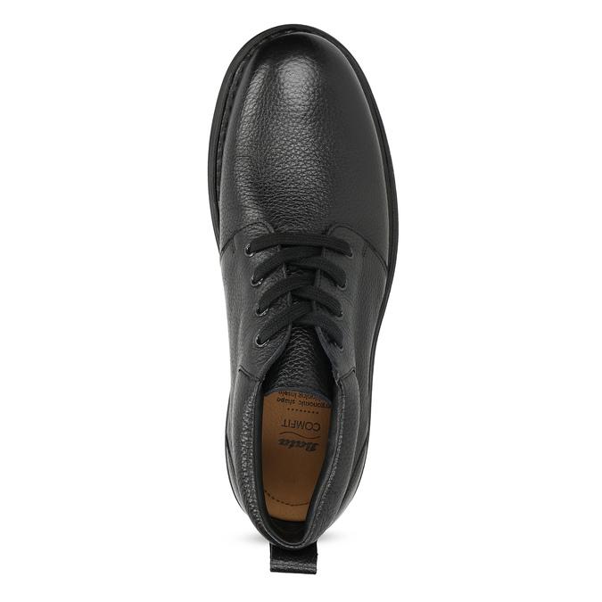 Pánská kožená kotníčková obuv comfit, černá, 894-6701 - 17