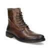 Kožená zimní kotníčková obuv pánská bata, hnědá, 896-4716 - 13