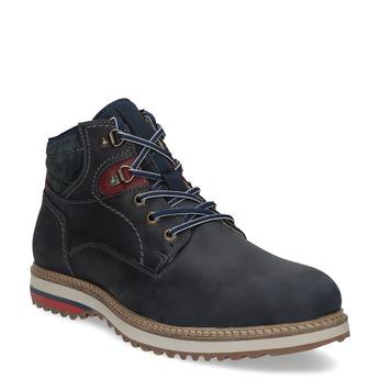 Kožená kotníková pánská zimní obuv bata, modrá, 896-9716 - 13