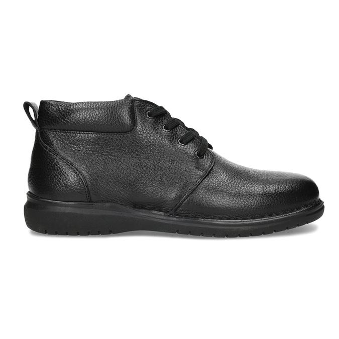 Pánská kožená kotníčková obuv comfit, černá, 894-6701 - 19