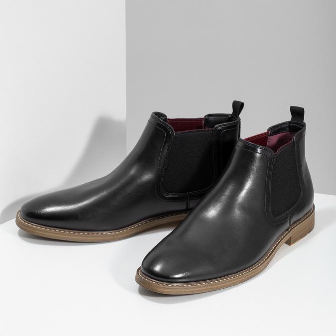 Černá pánská Chelsea obuv bata-red-label, černá, 821-6611 - 16