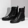Černé dámské kožené kozačky bata, černá, 594-6718 - 16