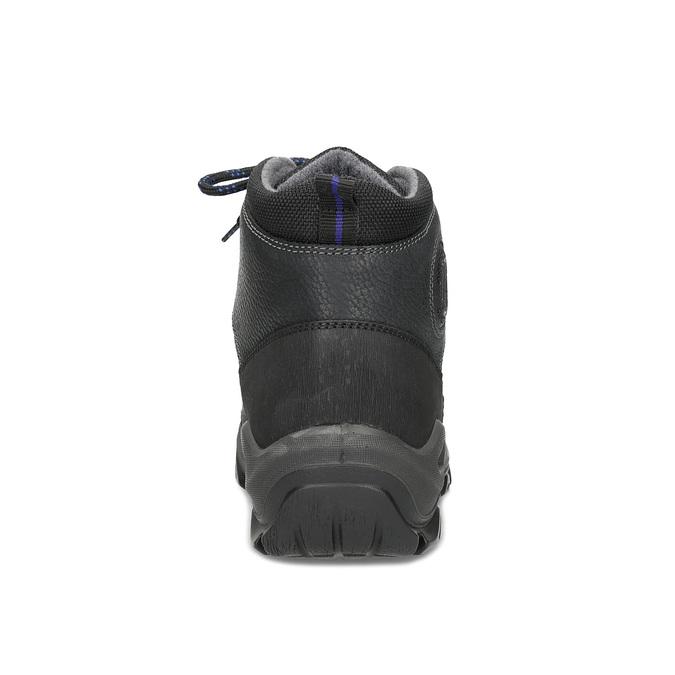 Pánská kožená outdoor obuv weinbrenner, černá, 896-6706 - 15