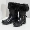 Dámské sněhule s kožíškem černé bata, černá, 592-6602 - 16