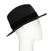 Černý klobouk se sametovou stuhou bata, černá, 909-6450 - 13