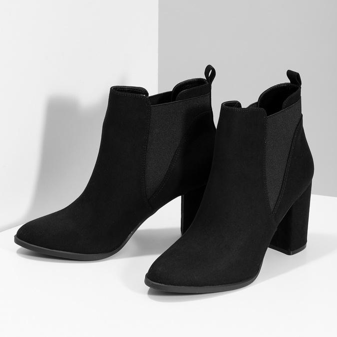 Kotníčková dámská obuv v Chelsea stylu bata-red-label, černá, 799-6629 - 16