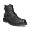 Kožená pánská kotníčková obuv s přezkami bata, černá, 896-6715 - 13