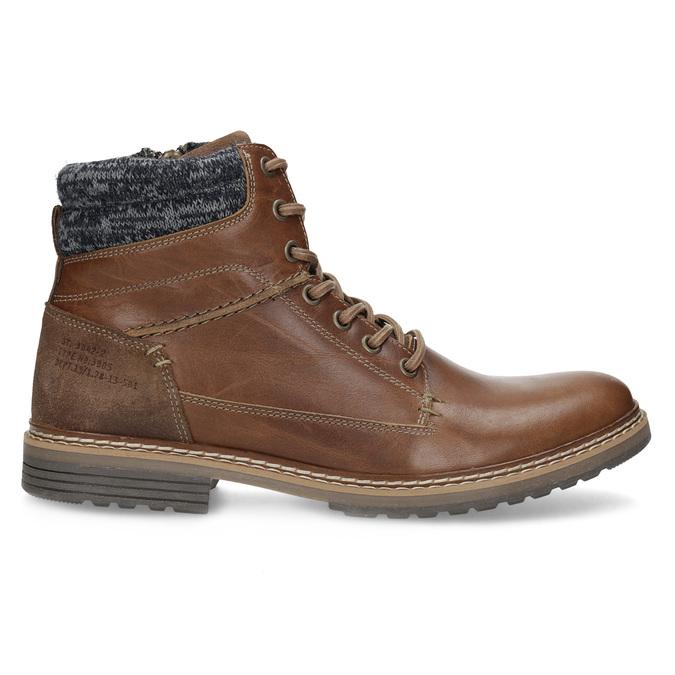 Kožená pánská kotníková obuv hnědá bata, hnědá, 896-3713 - 19