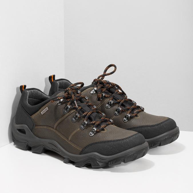 Pánská kožená obuv s masivní podešví weinbrenner, hnědá, 846-4806 - 26