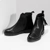 Kožená dámská kotníčková obuv se střapcem flexible, černá, 593-6195 - 16