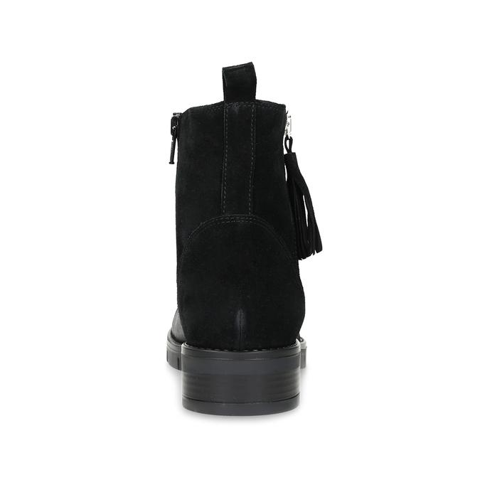 Kožená dámská kotníčková obuv se střapcem flexible, černá, 593-6195 - 15