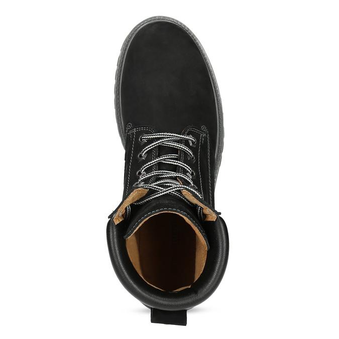 Pánská kožená kotníčková obuv s prošitím weinbrenner, černá, 896-6733 - 17