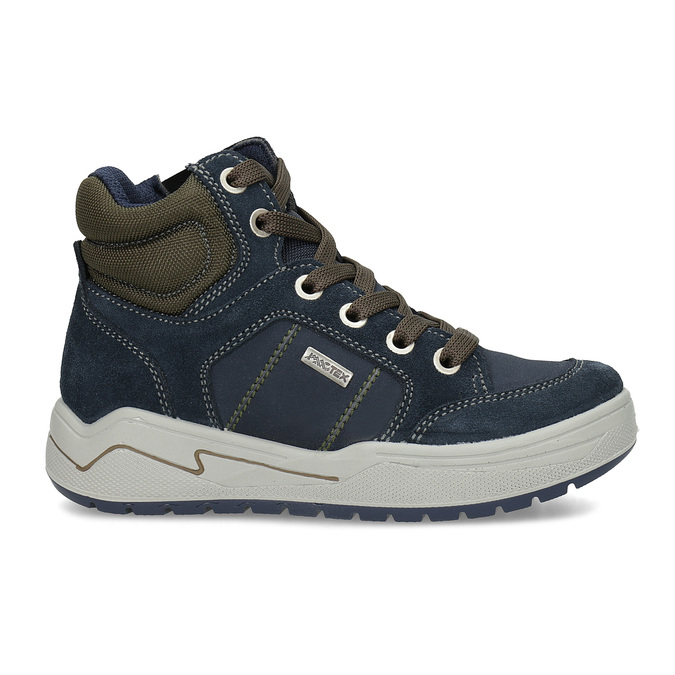 Kožená kotníčková obuv chlapecká mini-b, modrá, 493-9618 - 19