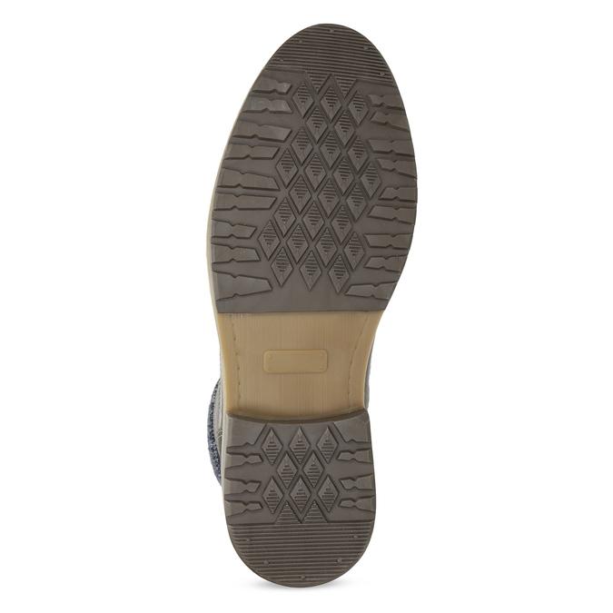Kožená pánská kotníková obuv s úpletem bata, šedá, 896-2713 - 18