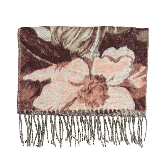 Šála s květinovým vzorem béžová bata, hnědá, 909-3722 - 13