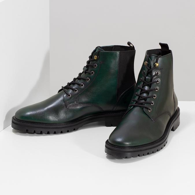 Pánská kotníčková obuv tmavě zelená bata, zelená, 896-7722 - 16