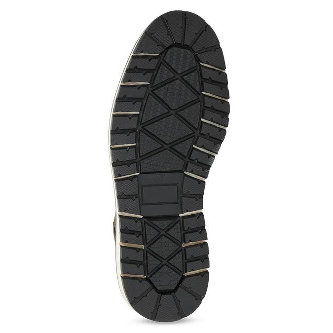 Kotníčková kožená pánská obuv bata, hnědá, 896-4666 - 18