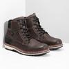 Kotníčková kožená pánská obuv bata, hnědá, 896-4666 - 26