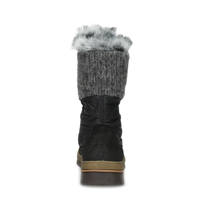 Dámská černá zimní obuv s kožíškem weinbrenner, černá, 596-6755 - 15