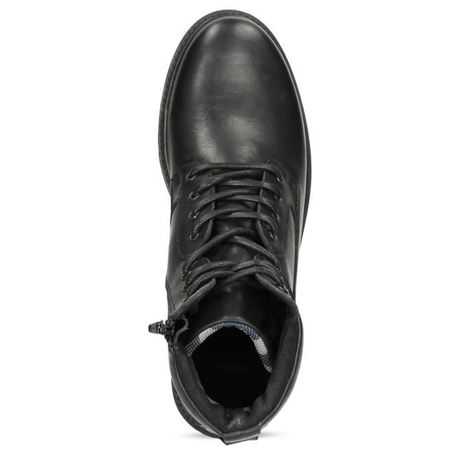 Zimní kožená kotníková obuv černá bata, černá, 896-6731 - 17