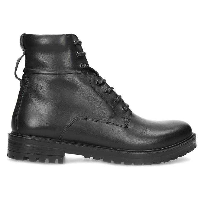 Zimní kožená kotníková obuv černá bata, černá, 896-6731 - 19