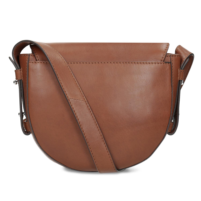 Baťa Hnědá kožená Crossbody kabelka - Kožené kabelky  e6368dfe1a1