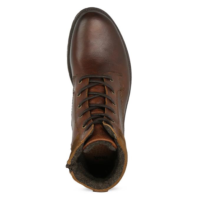 Hnědá pánská kožená zimní obuv bata, hnědá, 896-3732 - 17