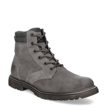 Pánská šedá kožená kotníčková obuv weinbrenner, šedá, 896-2693 - 13