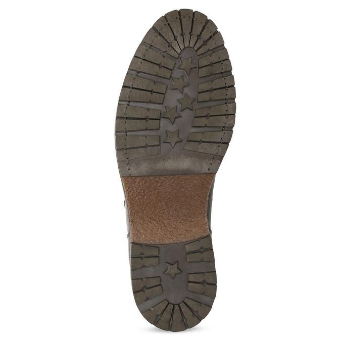 Kožená pánská kotníčková zimní obuv bata, hnědá, 896-3730 - 18
