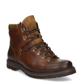 Kožená pánská kotníčková zimní obuv bata, hnědá, 896-3730 - 13