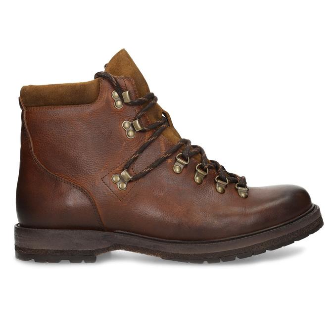 Kožená pánská kotníčková zimní obuv bata, hnědá, 896-3730 - 19