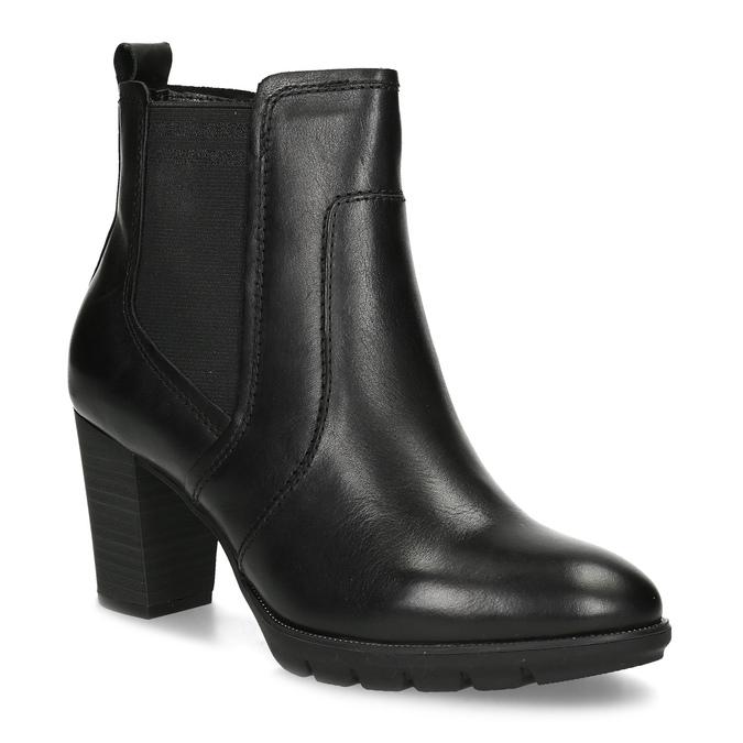 Kožené Chelsea na podpatku bata, černá, 794-6659 - 13