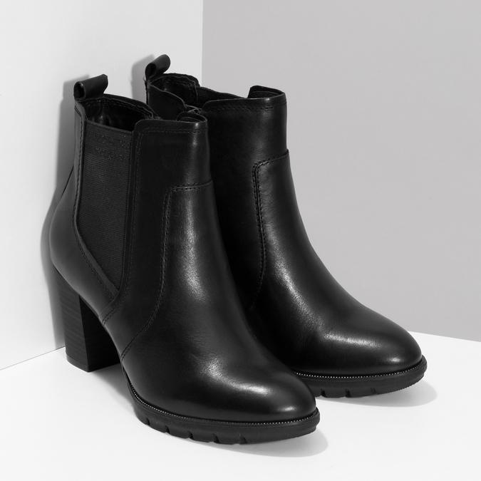 Kožené Chelsea na podpatku bata, černá, 794-6659 - 26